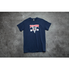 THRASHER Two-Tone Skategoat T-Shirt Navy Blue