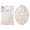 Moonbasanails 3D Akril hatású matrica fehér csipkevirág SMY203