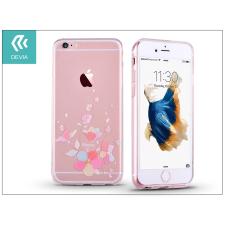Devia Apple iPhone 6 Plus/6S Plus hátlap kristály díszitéssel - Devia Crystal Soft Belis - clear/pink tok és táska