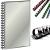 FELLOWES Spirál, műanyag, 45 mm, 341-410 lap, FELLOWES, fekete (50db/csom) IFW53501