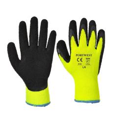 A143 - Thermal Soft Grip kesztyű-sárga(L)