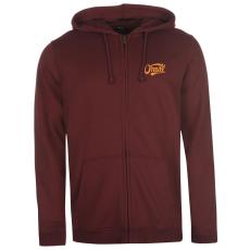Oneill Logo férfi kapucnis cipzáras pulóver bordó XXL
