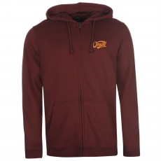 Oneill Logo férfi kapucnis cipzáras pulóver bordó XL