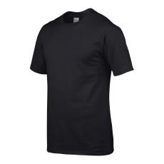 GILDAN Környakas Gildan prémium pamut póló, fekete