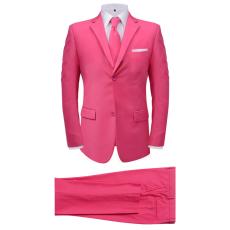 két darabos férfi öltöny nyakkendővel méret 50 rózsaszín