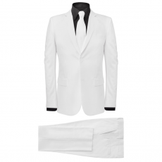 két darabos férfi öltöny nyakkendővel méret 56 fehér