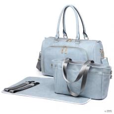 Miss Lulu London LT6638-Mummymatternity bevásárló táska válltáska táska Baby Nappy Diaper Changing Wipe Clean világos gray