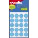 Etikett, 19 mm kör, kézzel írható, színes, APLI, kék, 100 etikett/csomag