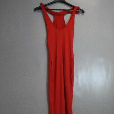 Sexy piros maxi ruha - Egy méret