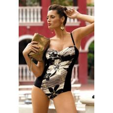marko Egyrészes fürdőruha Monaco M-234 olíva-bézs