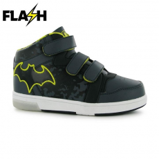 Character gyerek cipő villogó talppal - Batman - Character Lights Infants Hi Tops
