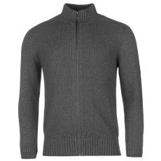 Firetrap Zip férfi kötött pulóver