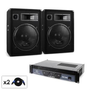 Electronic-Star Malone 2.0 BOOM hangfalszett, erősítő, 2 x hangfal