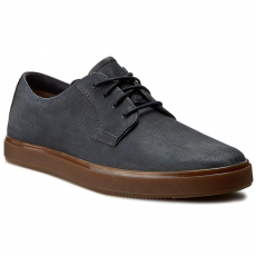Clarks Félcipő CLARKS - Calderon Lace 261238437 Navy Leather