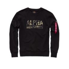 Alpha Industries Camo Print Sweat - fekete/wood camo