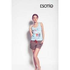 esotiq Mintás női pizsama Model Marisa 31231-50X kék/csíkos alsóval