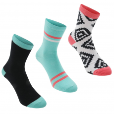 Rock and Rags Zokni Rock and Rags and Rags 3 Pack Aztec Ankle női
