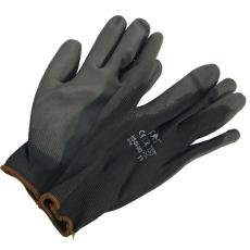egyéb Kötött kesztyű fekete nylon, BUNTING BLACK XXL-es méret, 11`poliuretánba mártott (Kesztyű)