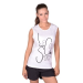 Le Coq Sportif rövidujjú felső Fantaisie Azet Tee SS W optical white, női, fehér, pamut, L