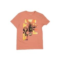 Efott rövidujjú felső T-Shirt FFI, férfi, korall, pamut keverék, L