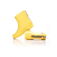 Dorko gumicsizma Yellow Color Ankle Boot With Zipper, női, sárga, gumi, 38