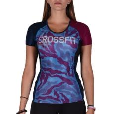 Reebok fitness felső RCF Compression SS Wilblu, női, kék, poliészter, L