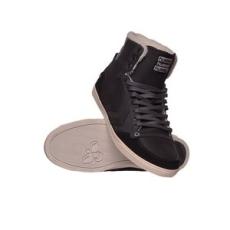 Hummel férfi utcai cipő Slimmer Stadil Moc Toe High, fekete, bőr, természetes, 44