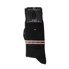Tommy Hilfiger magasszárú zokni TH Men Sock Madison, férfi, fekete, pamut keverék, 41-42