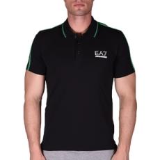 EmporioArmani póló Men's Knit Polo Brghtgreen, férfi, fekete, pamut, L