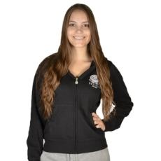 Russel Athletic Végig cipzáros pulóver, Russel Athletic Russell Athletic, női, fekete, pamut keverék, L
