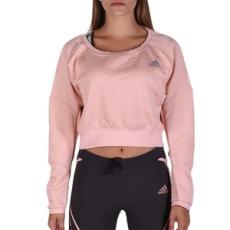 Adidas PERFORMANCE futós póló AK Pullover W Vappnk, női, rózsaszín, pamut, L