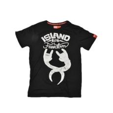 Dorko rövidujjú felső Sziget T-Shirt, férfi, fekete, pamut keverék, L