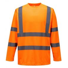 S178 - Hi-Vis hosszú ujjú póló - narancs (M)