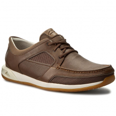 Clarks Félcipő CLARKS - Ormand Sail 261252787 Dark Brown Leather