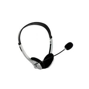 4world Fejhallgató mikrofonnal - ezüst - szabályozható hangerő a kábelen (02994)