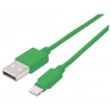 "MANHATTAN USB kábel, lightning, 1 m, MANHATTAN ""iLynk"", zöld"