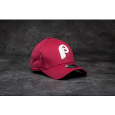 New Era 9Forty Flock Logo Philadelphia Phillies Cap Cardinal Red