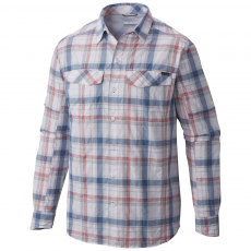 Columbia Silver Ridge Plaid Long Sleeve Shirt Ing D (1441321-q_686-Sunset Red)