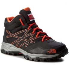 The North Face Bakancs THE NORTH FACE - Jr Hedgehog Hiker Mid Wp T0CJ8QNMY Tnf Black/Mandarin Red
