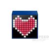 Divoom TimeBox Mini okos (Android,iOS), programozható bluetooth hangszóró 5W LED-es kijelzővel, kék