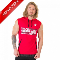 MELBOURNE S/L HOODED T-SHIRT - RED (RED) [4XL]