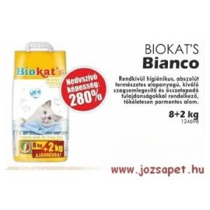 Biokat's Bianco Macskaalom 10kg--280%-os nedvességmegkötő képesség!