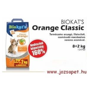 Biokat's Orange Klassic macskaalom 10 kg--160%-os nedvszívó képesség