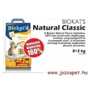 Biokat's Natural Classic macskaalom 10 kg--160%-os nedvességmegkötő képesség