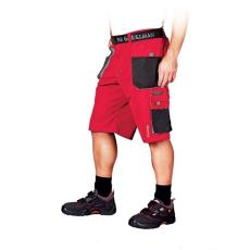 Piros Rövidnadrág FORMEN, 65% poliészter és 35% pamut (Dizájnos rövidnadrág )
