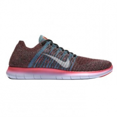 Nike Free Run Flyknit férfi futócipő, Hot Punch/White, 45 (831069-604-11)