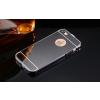 iPhone 5 5S SE aluminium bumper színes tükrös hátlappal (Fekete)