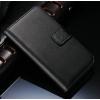 iPhone 5 5S műbőr flip pénztárca tok fekete színben ajándékokkal