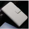 iPhone 5 5S műbőr flip pénztárca tok fehér színben ajándékokkal