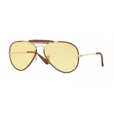 Ray-Ban RB3522Q 90424A AVIATOR CRAFT LEATHER LIGHT BROWN YELLOW napszemüveg